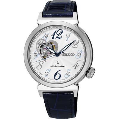 SEIKO LUKIA 愛戀開芯經典機械錶(SSA843J1)-銀x藍色錶帶/34mm