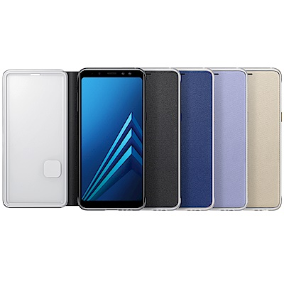 Samsung Galaxy A8 (2018版) 原廠霓虹翻頁皮套