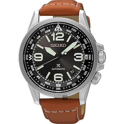 SEIKO精工 Prospex 空軍爭霸機械腕錶(SRPA75J1)-黑x咖啡/42mm
