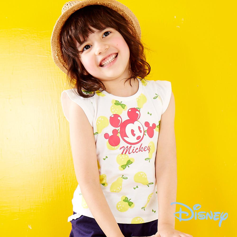Disney甜美泡袖印圖上衣 黃色