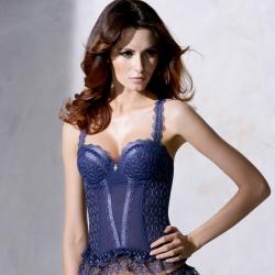 La Felino - 藍色狂想3/4罩性感馬甲 (狂野藍)