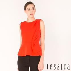 JESSICA -俐落修身無袖上衣(紅)