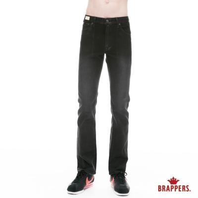 BRAPPERS 男款 HM中腰系列-彈性中直筒褲-黑