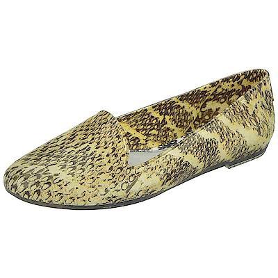 MELISSA-吳季剛蟒蛇紋樂福鞋-黃
