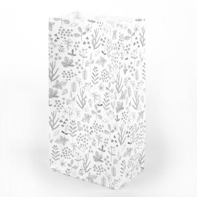 北歐典雅白禮物袋組(10入)-01葉脈