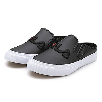 FILA 女款KICKS MULE帆布鞋-黑 5-C111S-001