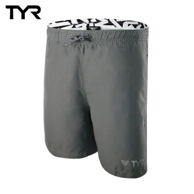 美國TYR 男款透氣慢跑短褲 Bentley Shorts Gray 台灣總代理