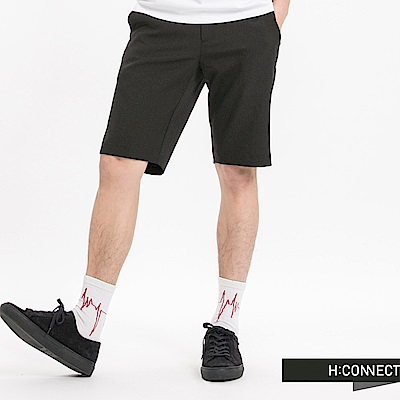 H:CONNECT 韓國品牌 男裝-及膝彈力西裝短褲-黑