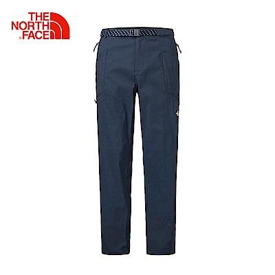 The North Face北面男款藍色防潑水戶外徒步休閒褲