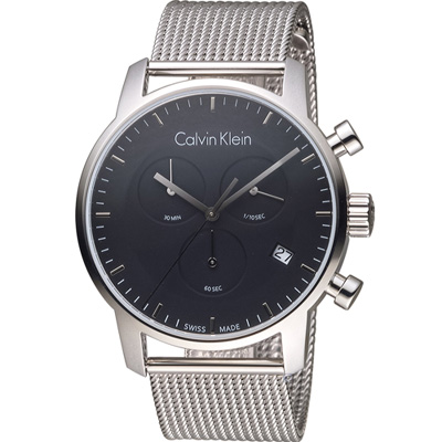 Calvin Klein K2G city 都會系列米蘭時尚計時腕錶-黑/43mm