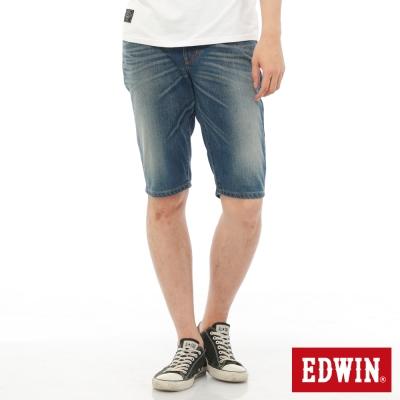 EDWIN 503NARROW基本休閒短褲-男-中古藍