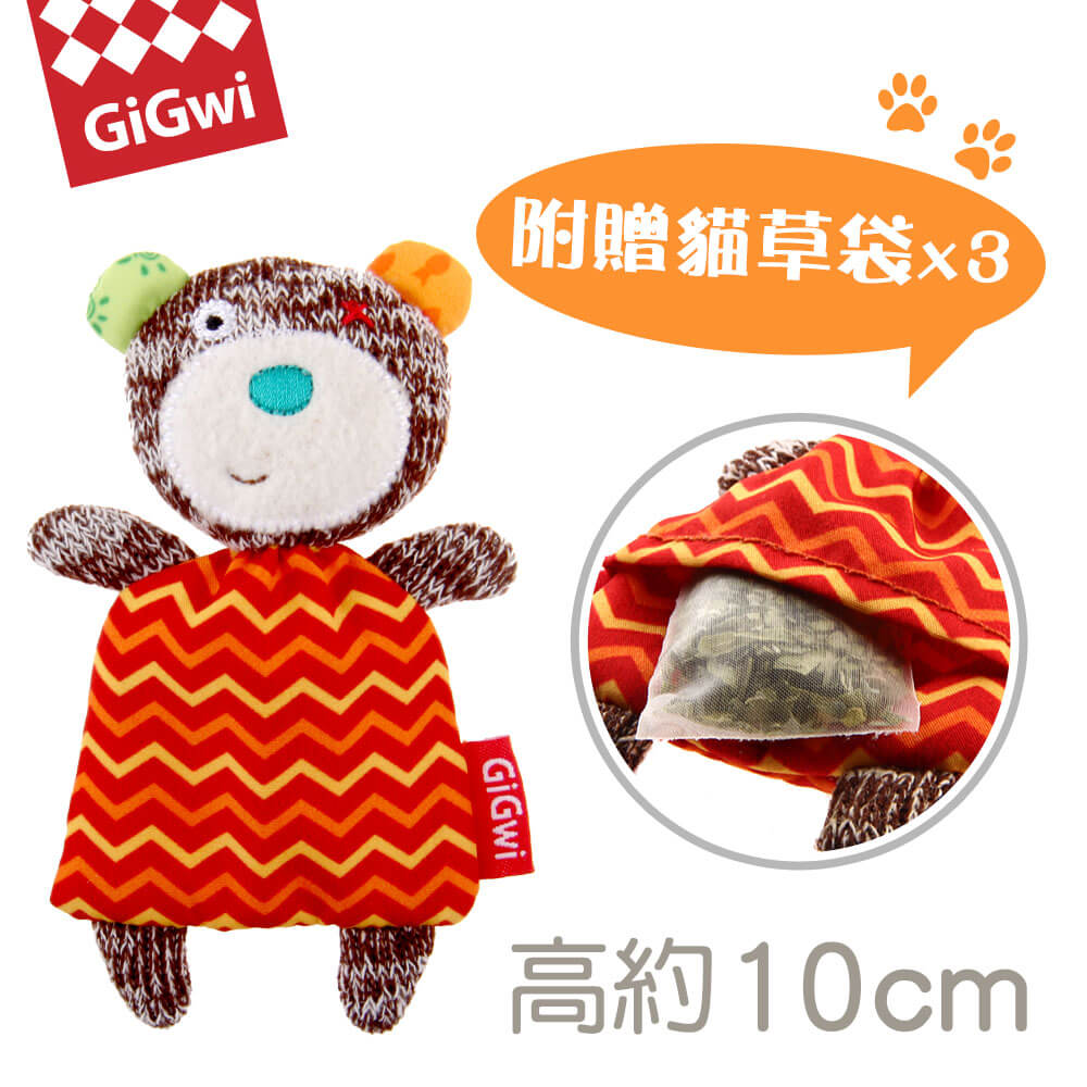 GiGwi就是愛貓草-小棕熊絨毛玩具