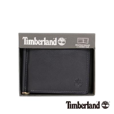 Timberland 男女款高級黑色牛皮短款錢夾錢包