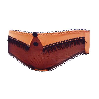 瑪登瑪朵-魔俏V-II-低腰平口棉褲-鮮橙橘
