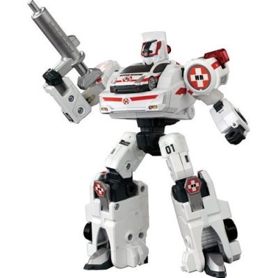 TOMICA  變形機器人 緊急救援隊  白色救援車 TW85726
