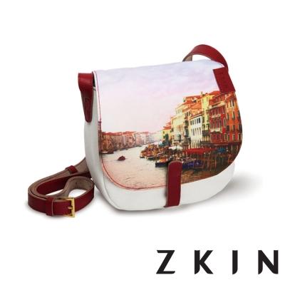 ZKIN-Bolla-彩繪塗鴉單肩相機包-繪畫紅