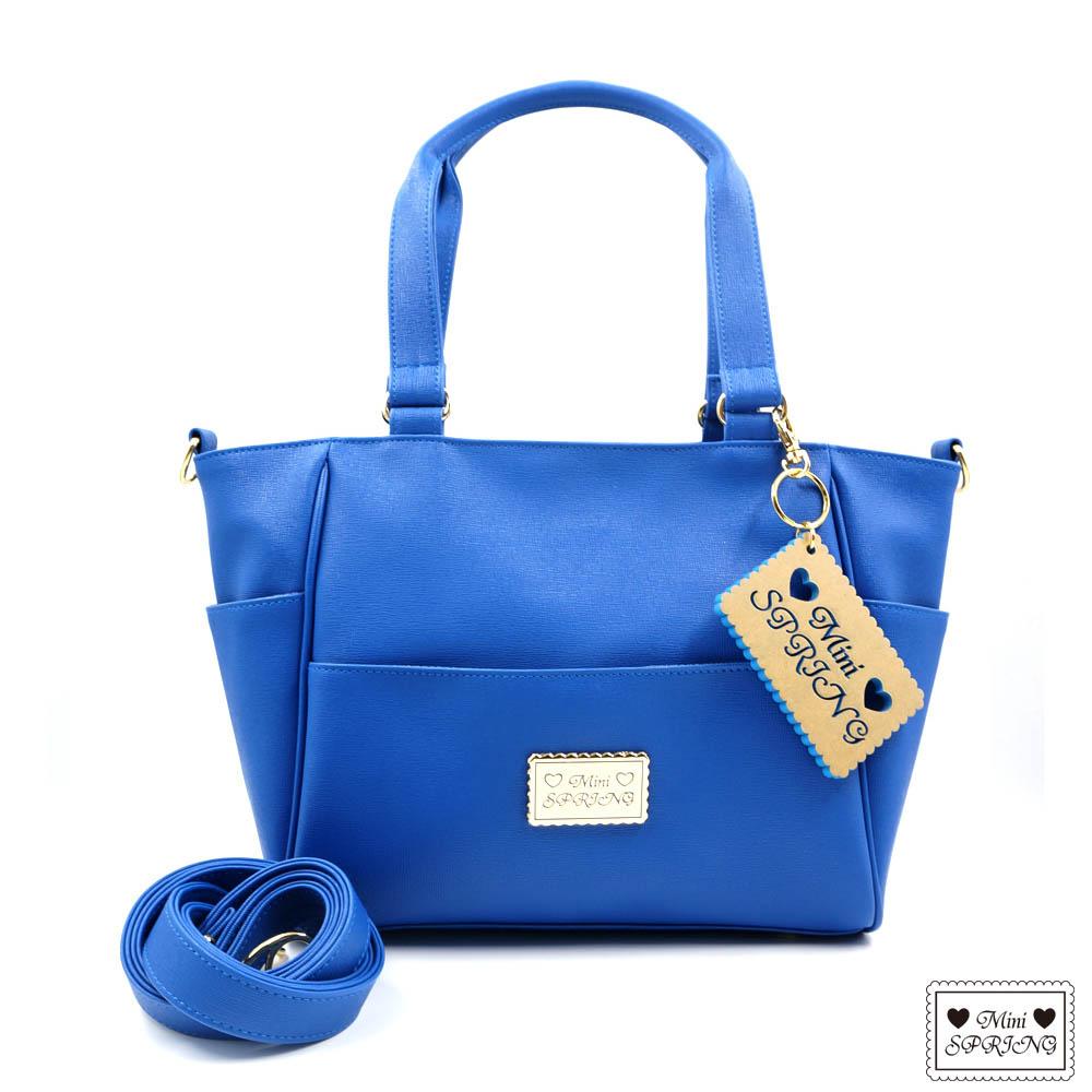 MINI SPRING-托特包-法式餅乾3WAY托特包-藍