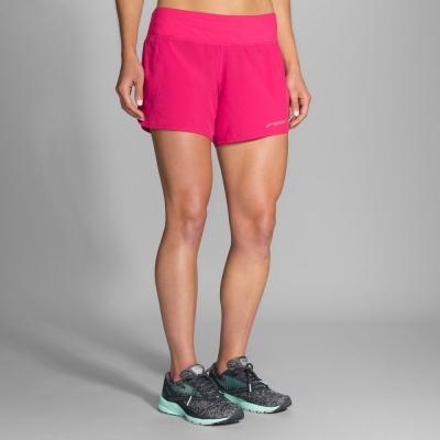 BROOKS 女 Chaser追避者 <b>5</b>吋 慢跑短褲 牡丹紅(221040689)