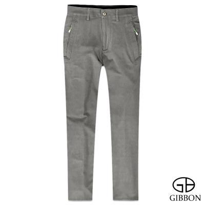 GIBBON 防曬吸排四面彈力長褲‧岩褐31~40