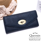 DF Queenin皮夾 - 韓版精緻仿皮款轉扣式長夾-共3色