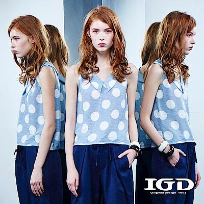IGD英格麗 都會悠閒風波點水手領造型背心上衣