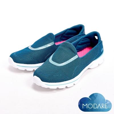 【W&M】MODARE 超彈力水波紋透氣舒適瑜珈鞋墊女鞋-藍(另有黑/紅)