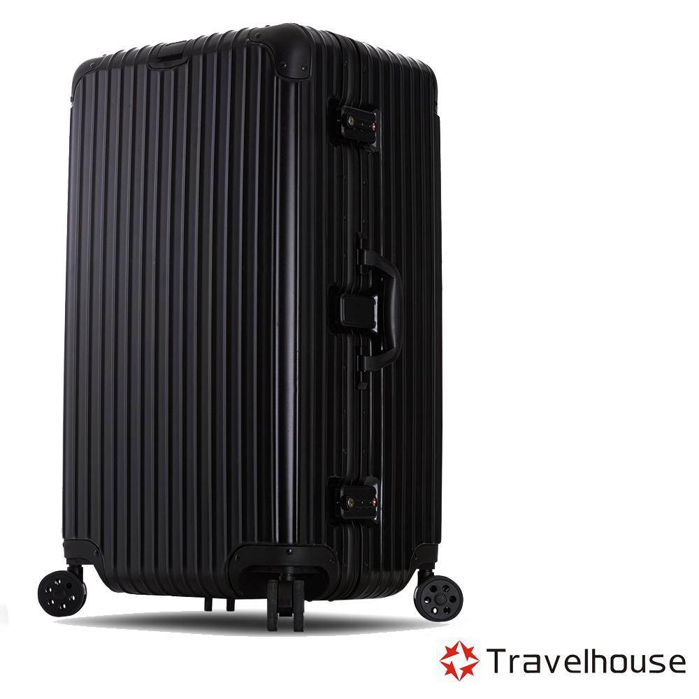 Travelhouse尊爵天際29吋PC運動款鋁框行李箱黑色