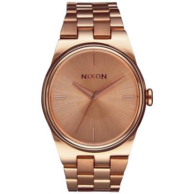 NIXON IDOL 唯美星河轉念時尚腕錶-玫瑰金/35mm