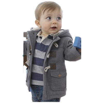 魔法Baby 厚款牛角釦保暖內羊羔絨寶寶連帽外套 k26719