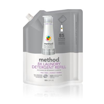 Method 美則 八倍濃縮智慧環保洗衣精補充包 無香料1020ml
