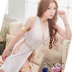 角色扮演 希臘女神透視網紗角色服 純潔白 XOXOXO