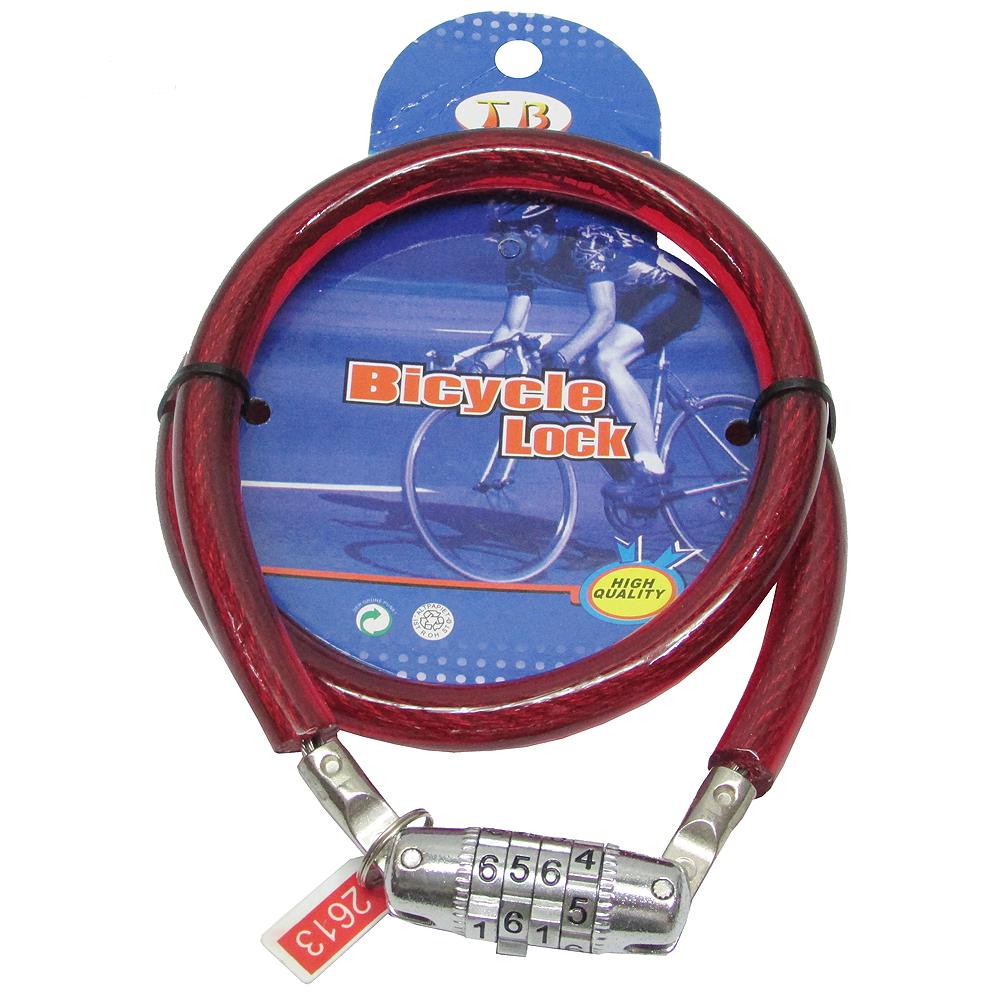 11mm粗70cm長自行車鎖鋼纜鎖密碼鎖(1270)