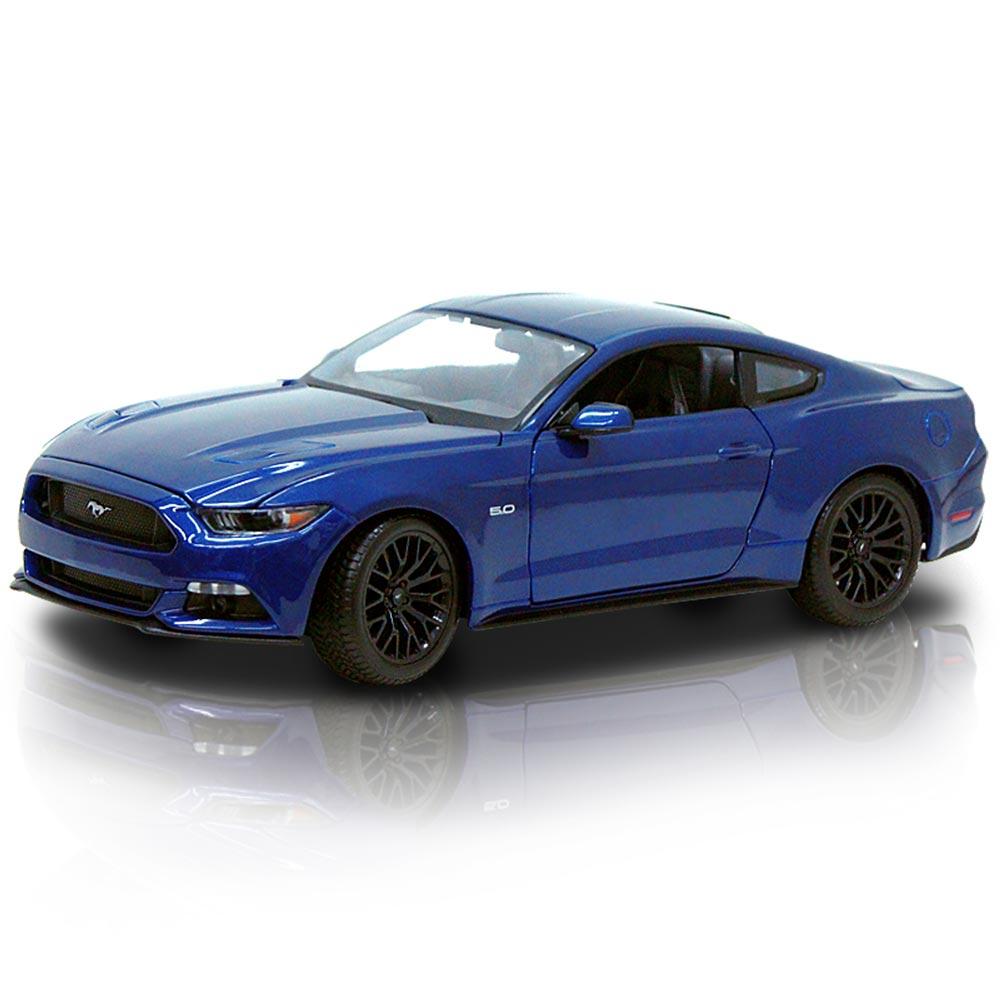 2015 Ford Mustang 1:18 合金模型車 (寶藍)