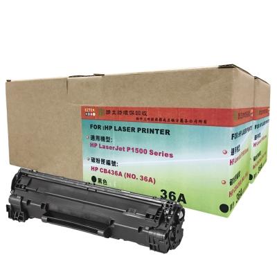 EZTEK HP CB436A 環保碳粉匣(雙包裝)