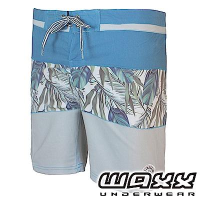 WAXX 經典系列-天使戀人藍灰拼接快乾男衝浪褲(18英吋)