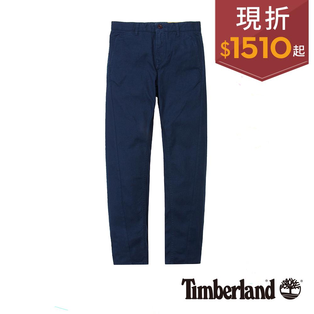 Timberland 男款深藍色輕量窄管休閒長褲