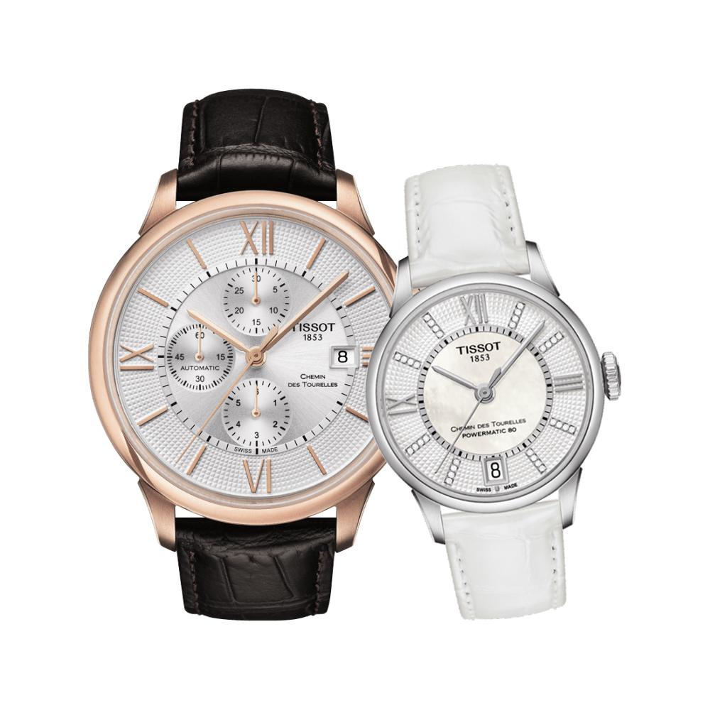 TISSOT 杜魯爾系列情人機械對錶-44+32mm @ Y!購物