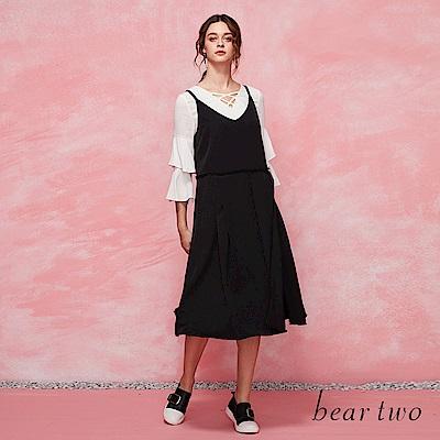 beartwo 傘型下擺背心式洋裝(二色)