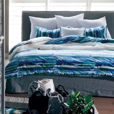 寬庭Ksp-挪威森林-雙人四件式被套床包組(藍綠)