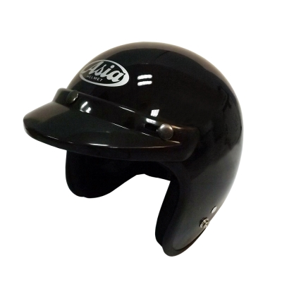 ASIA A-706 精裝素色細條安全帽 亮黑