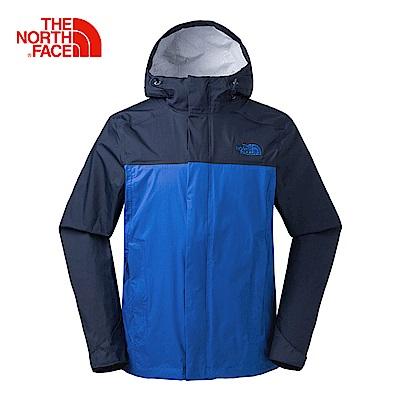 The North Face北面男款深藍防水透氣防風外套