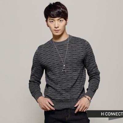 H-CONNECT-韓國品牌-男裝-幾何線條素色針
