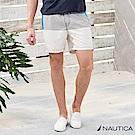 Nautica條紋拼接造型海灘褲-白