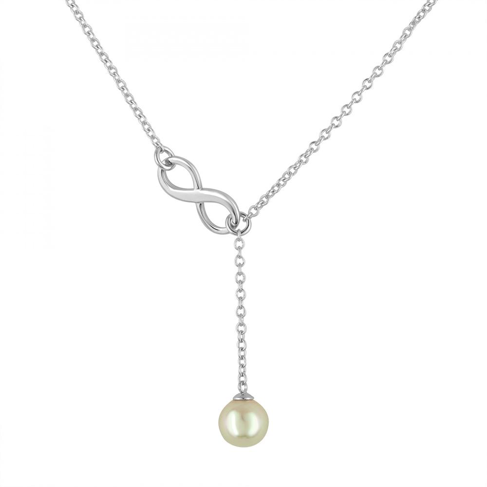 Majorica西班牙珠寶 無限珍珠銀色項鍊
