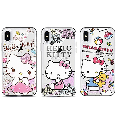GARMMA Hello Kitty iPhone 8/7/6s+粉彩流沙保護殼