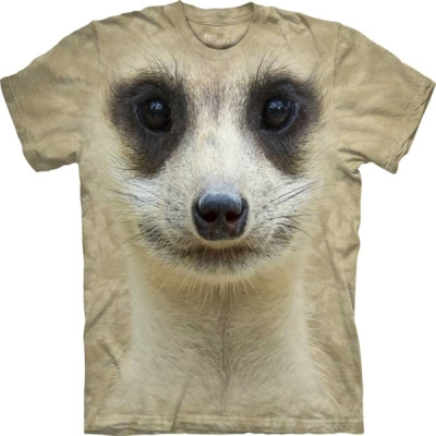 摩達客-美國The Mountain 貓鼬臉 兒童版純棉環保短袖T恤