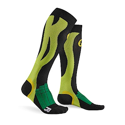 【Titan】太肯壓力運動襪 Elite_黑/綠(適合慢跑、自行車、球類運動)
