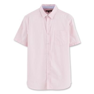 Hang Ten - 男裝 - 都會風基本短袖襯衫 - 粉