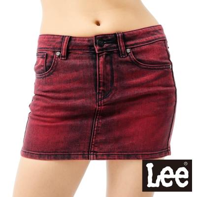 Lee牛仔短裙-可蓋後褲袋-女款-紅-LL11040602E