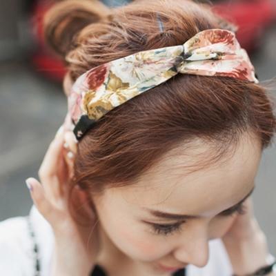 梨花HaNA韓國甜美想像春天雪紡花朵髮帶